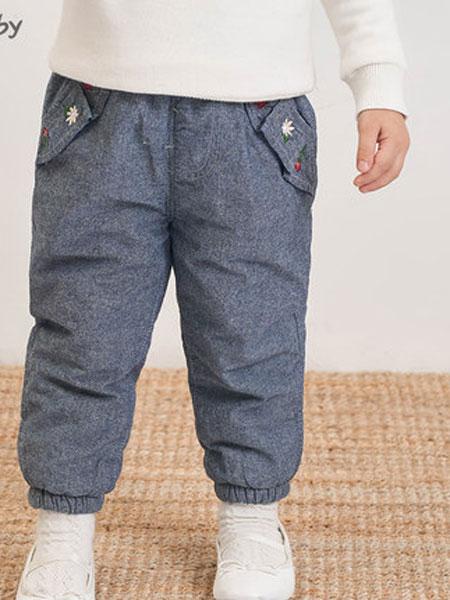 思齐贝比童装品牌2019秋冬棉裤灰色