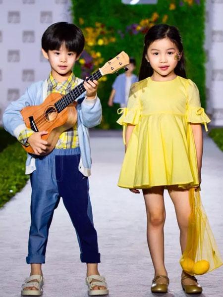 GBKIDS童装品牌2020春夏黄色纯色裙子