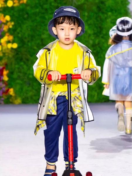 GBKIDS童装品牌2020春夏黄色印花卫衣