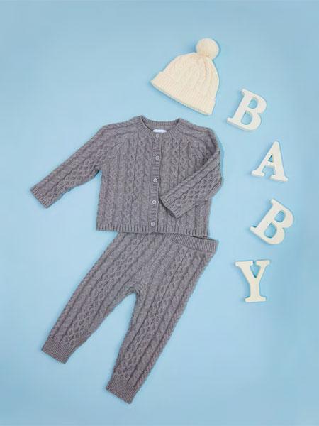 Tiny Toes/Inspired Living童装品牌2019秋冬婴幼儿内衣灰色针织毛衣