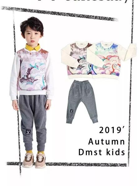德蒙斯特童装品牌2019秋冬中国风印花卫衣