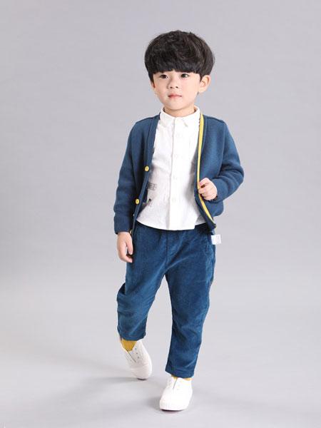杰西凯童装品牌2019秋冬新款韩版毛衣开衫男童