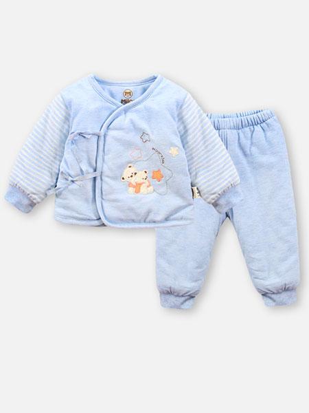 贝儿童品童装品牌2019秋冬保暖蓝色套装