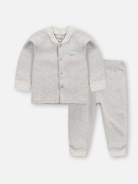 贝儿童品童装品牌2019秋冬纯色保暖衣裤