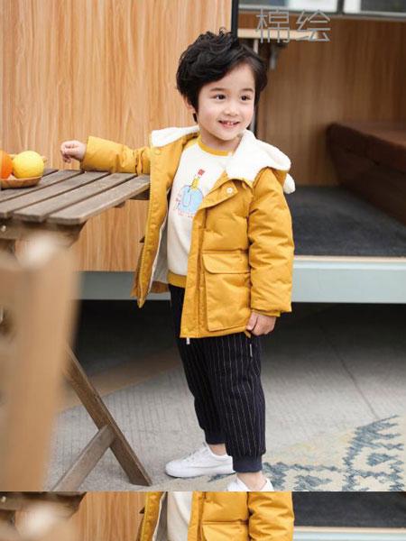 棉绘童装品牌2019秋冬新品条纹裤子