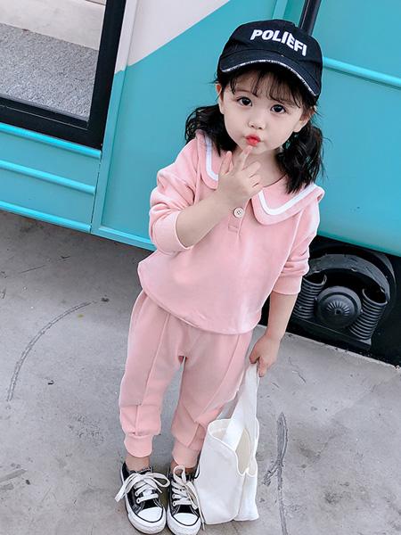 精灵之舞童装品牌2019秋季粉色套装