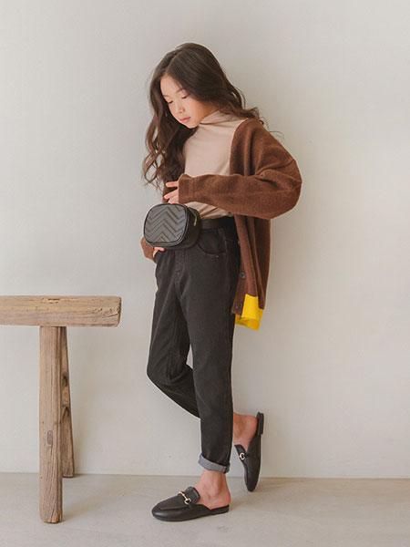 Stylenoriter童装品牌2019秋冬纯色双面毛呢外套
