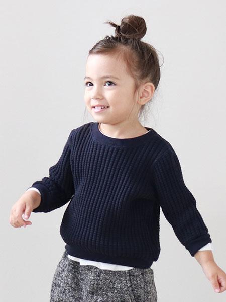 quoti use fith童装品牌2019秋冬黑色羊毛卫衣