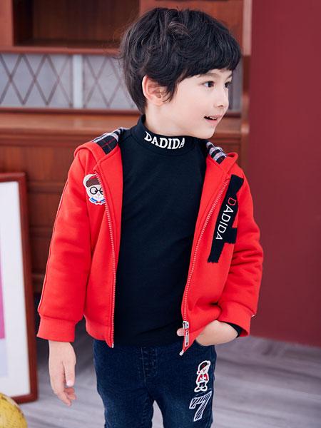 嗒嘀嗒童装品牌2019秋冬休闲时尚运动洋气加厚绒儿童