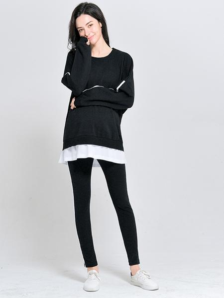 孕度YUMDUVM孕妇品牌2019秋冬套装