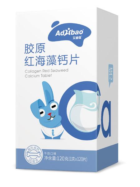 亢敏君婴儿食品胶原红海藻钙片(牛奶口味)