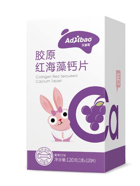 亢敏君婴儿食品胶原红海藻钙片(葡萄口味)