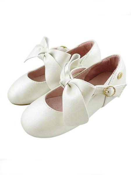 Little Garden童鞋品牌2019春夏娃娃鞋白色