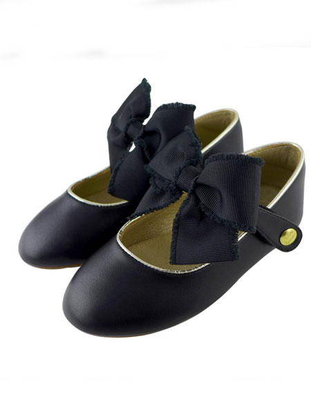 Little Garden童鞋品牌2019春夏娃娃鞋黑色