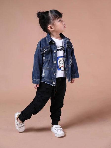 米作童装品牌2019秋冬牛仔外套