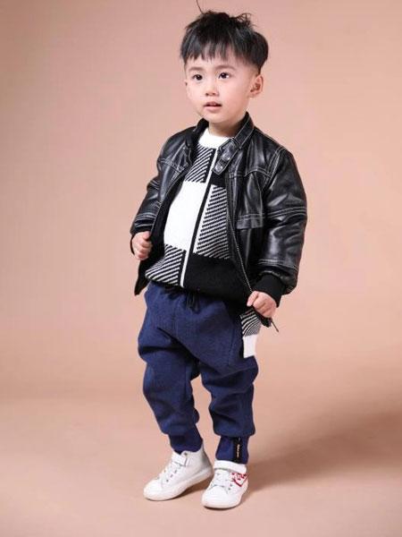 米作童装品牌2019秋冬黑色皮衣