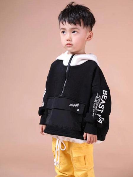 米作童装品牌2019秋冬黄色裤子