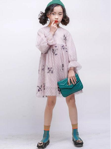 欧卡星童装品牌2019秋季新款韩版甜美洋气公主裙连衣裙