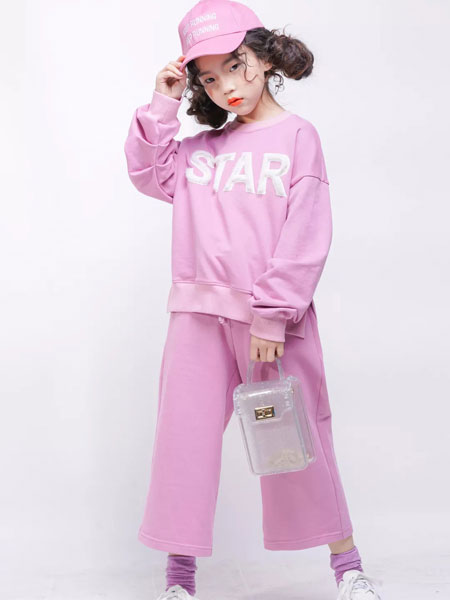 欧卡星童装品牌2019秋季新款韩版长袖甜美纯棉休闲套装