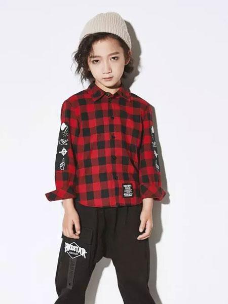 欧卡星童装品牌2019秋季新款韩版时尚休闲格子翻领衬衣