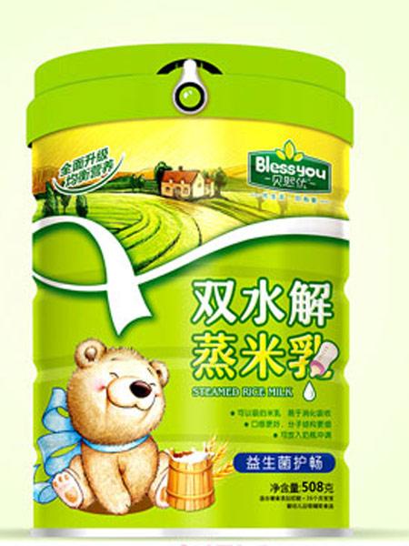 贝熙优婴儿食品益生菌护畅双水解蒸米乳听装508克