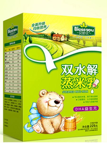 贝熙优婴儿食品DHA益生元双水解蒸米乳盒装225克