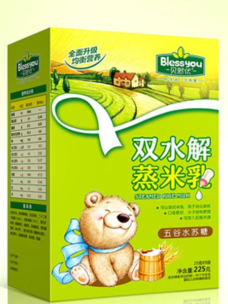 贝熙优婴儿食品五谷水苏糖双水解蒸米乳盒装225克