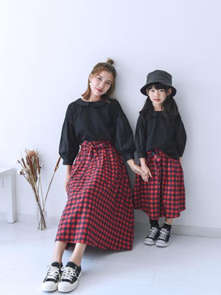 桔子Woranges情侣亲子2019秋冬宽松时尚上衣