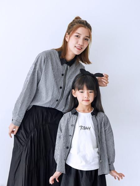 桔子Woranges情侣亲子2019秋冬翻领纽扣外套
