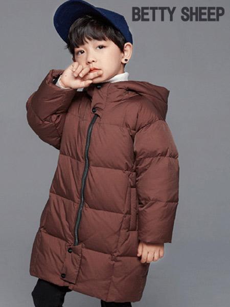 贝蒂小羊童装品牌2019秋冬轻薄保暖羽绒服