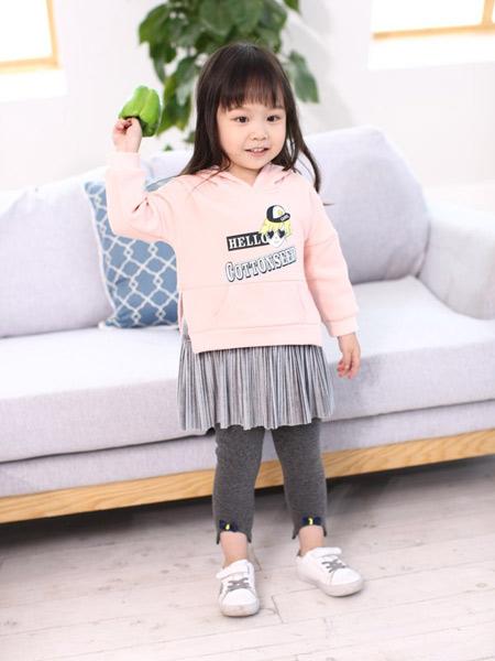 魔方童装品牌2019秋冬连帽加绒卫衣
