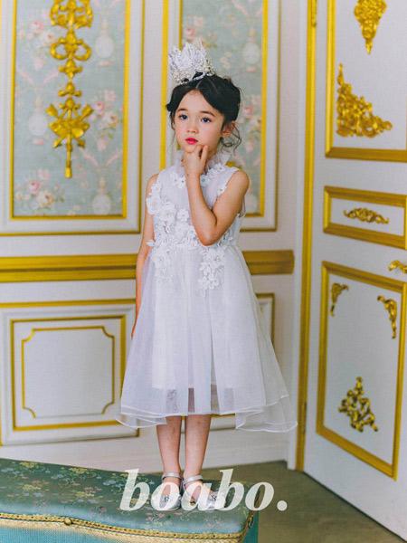 boabo.宝儿宝童装品牌2019秋冬甜美公主裙蓬蓬裙