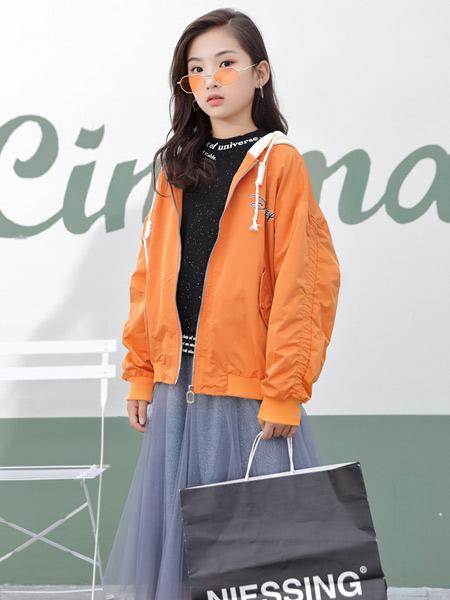 123童装童装品牌2019秋冬加绒保暖外套