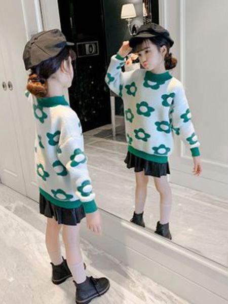 葛妮童装品牌2019秋冬羊毛衫套头衫