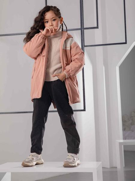 彩色笔童装品牌2019秋冬轻薄加绒棉服