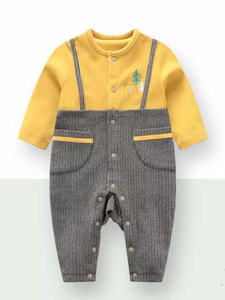 拉比童装品牌2019秋冬假两件连体衣