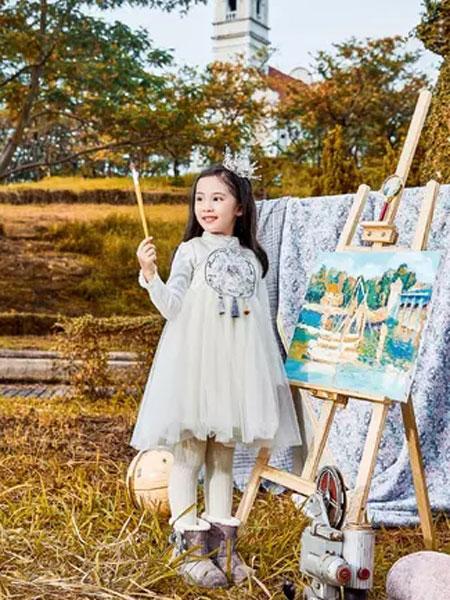 丹尼熊童装品牌2019秋冬纱裙公主裙