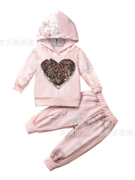 贝斯美童装童装品牌2019秋冬加绒套装