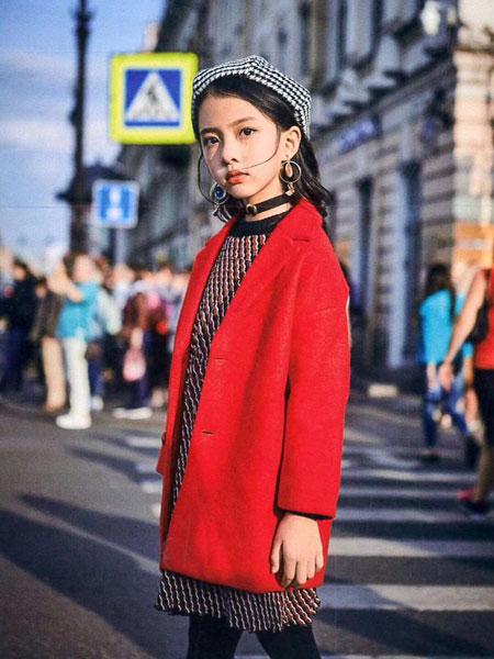 小嗨皮童�b品牌2019秋冬毛呢外套
