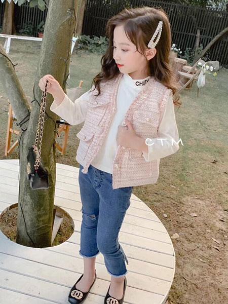 麦乐鸭童装品牌2019秋冬小香风外套