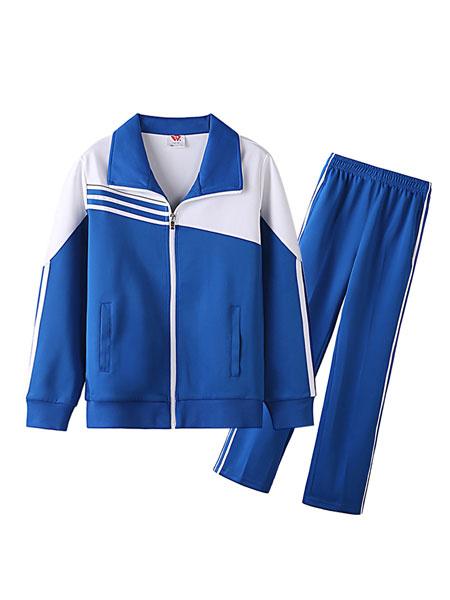 威达校服童装品牌2019秋冬加绒套装校服