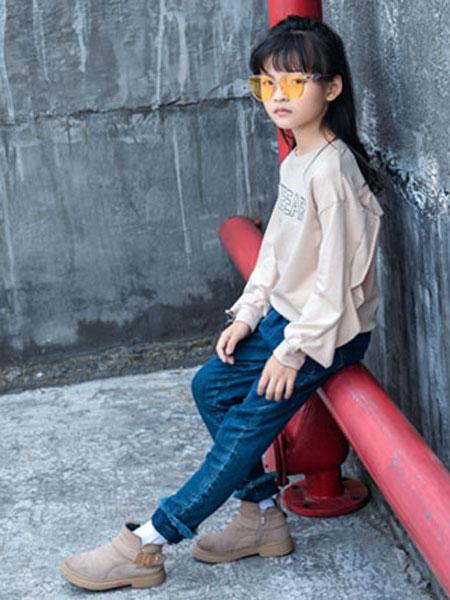 佐米熊童装品牌2019秋冬娃娃衫上衣