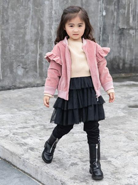 佐米熊童装品牌2019秋冬加绒外套