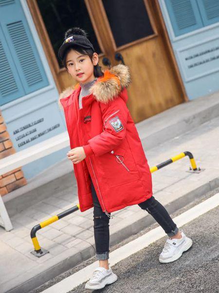 酷小孩童装品牌2019秋冬轻薄加绒保暖羽绒服