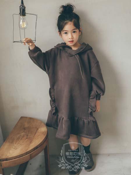 维尼叮当童装品牌2019秋冬加绒加厚鱼尾连衣裙潮