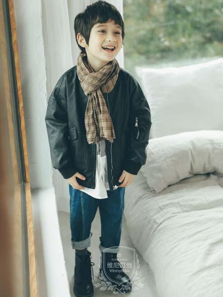 维尼叮当童装品牌2019秋冬bf宽松冬季棉衣外套百搭短款皮夹克