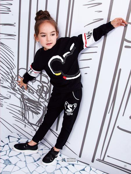 黑白熊童装品牌2019秋冬圆领卫衣