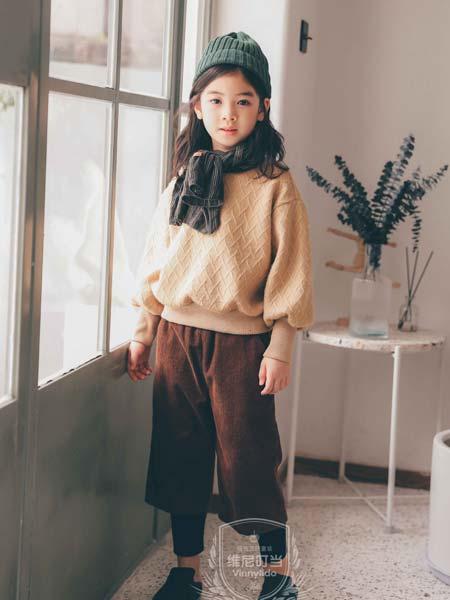 维尼叮当童装品牌2019秋冬长袖针织底衫百搭套头毛衣上衣外套