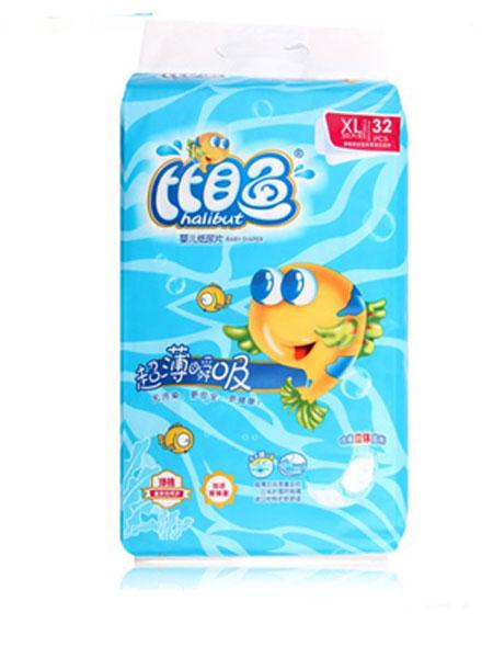 比目鱼婴童用品超薄瞬吸婴儿纸尿片XL码32片