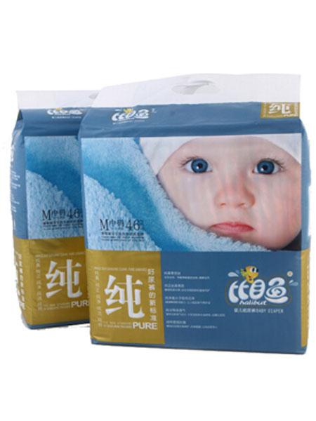 比目鱼婴童用品加棉快吸纯品质婴儿纸尿裤M码50片